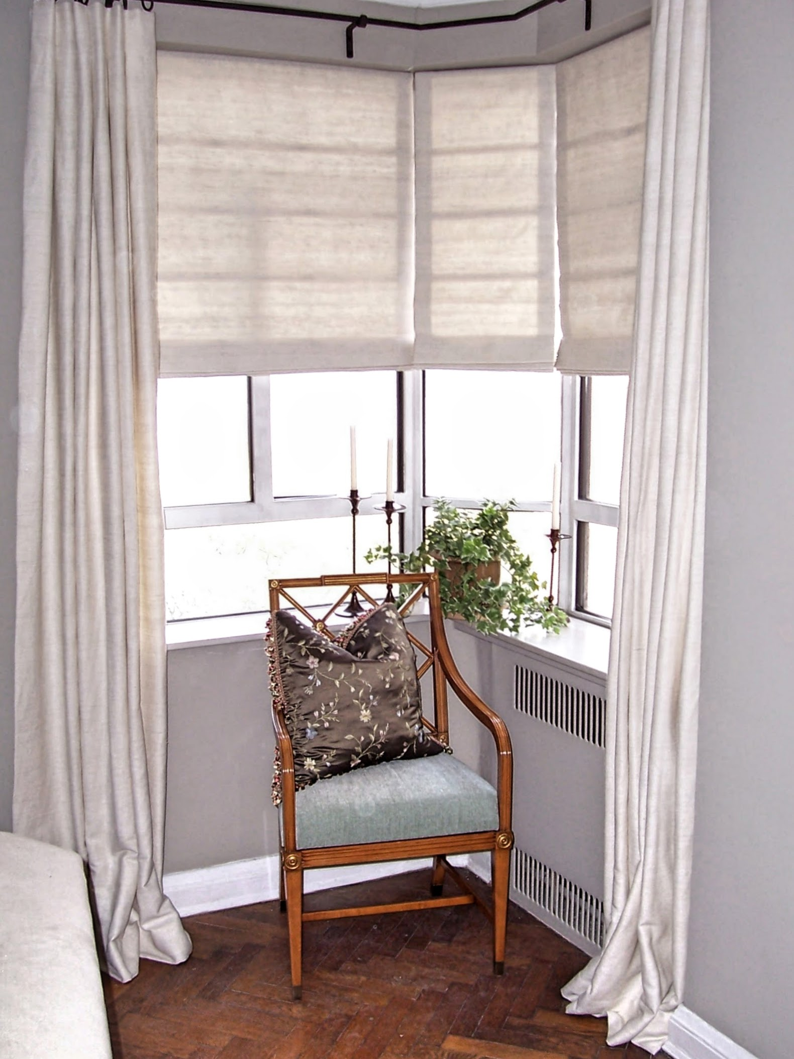 Drapes For Corner Window Crosstown Custom Shade Glass